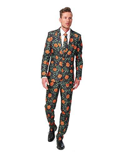 Kürbis Kostüm Anzug - Kürbis Suitmeister Kostüm - Halloween - M