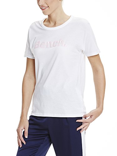 Bench Damen T-Shirt Grown On Sleeve, Corp Print Tee Weiß (Bright White WH11185)