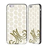 Head Case Designs Offizielle Marie Antoinette Punkte Muster Schwarz Rahmen Hülle mit Bumper aus Aluminium für iPhone 6 Plus/iPhone 6s Plus