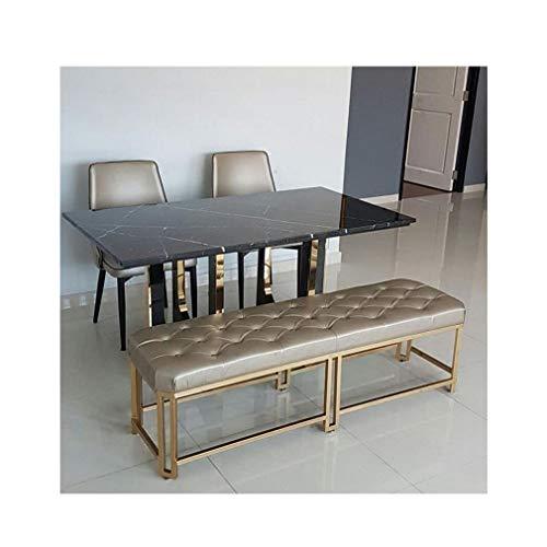 Bett Ende Bank (STAR-LIFE Moderne Schmiedeeisen Sofa Bank Eintrag Schuh Bank Schlafzimmer Bett Ende Hocker Goldener Hocker (Size : 100×35×45cm))