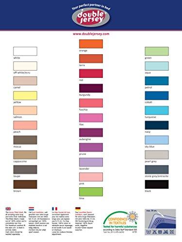 Double Jersey - Spannbettlaken 100% Baumwolle Jersey-Stretch bettlaken, Ultra Weich und Bügelfrei mit bis zu 30cm Stehghöhe, 160x200x30 Prune - 8