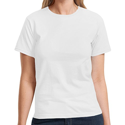 hanes-t-shirt-maniche-corte-donna-bianco-bianco