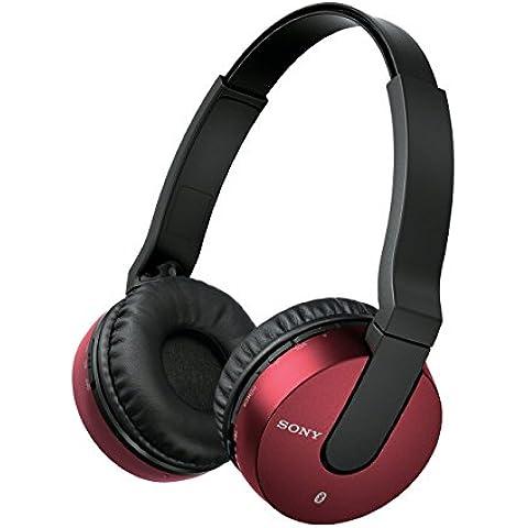 Sony MDR-ZX550BN - Auriculares de diadema cerrados Bluetooth (reducción de ruido, USB, NFC), rojo