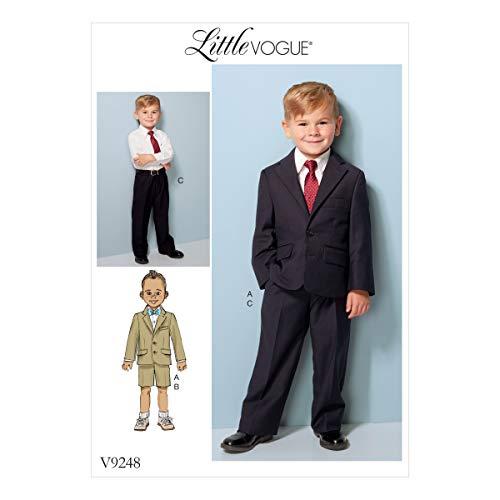 Vogue Mustern Kinder/Jungen Jacke, Shorts und Hose, Mehrfarbig, Größen 6-8 (Jungen-größe Jacke Anzug 8)
