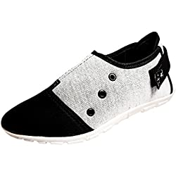 Women Ladies Synthetic Casual Black and Grey Shoes