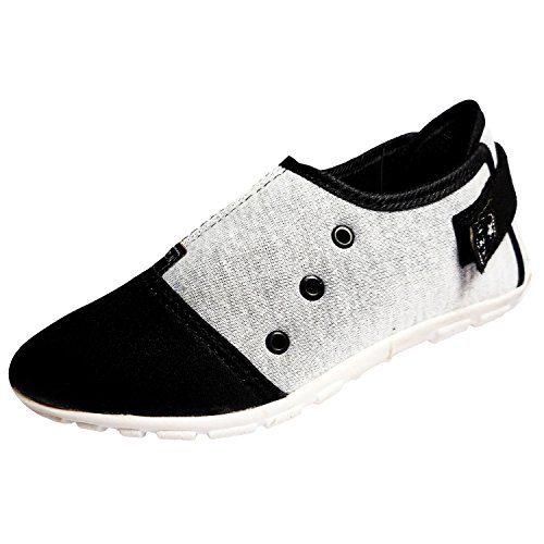 Ziaula Women Ladies Synthetic Casual Black and Grey Shoes
