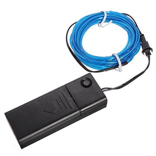 1m 3v Flexible Neon El Wire Light-dance-party Dekoration-licht-batteriebetriebene Controller, Blau (Dance Neon Dekorationen)