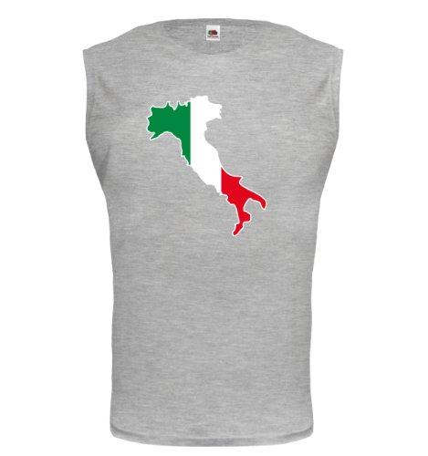 buXsbaum® Tank Top Italien-Shape Heathergrey-z-direct