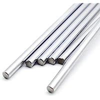 INVENTO 2pcs EN31 Rustproof Steel Smooth Rod 6mm OD 400mm (0.4 mtr) Long for CNC Robotics Machines DIY Projects