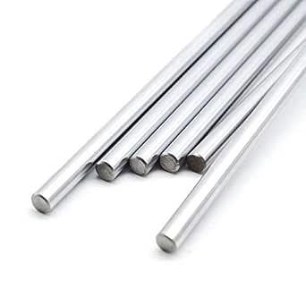 INVENTO 4pcs EN31 Rustproof Steel Smooth Rod 8mm OD 500mm (0.5 mtr) Long for CNC Robotics Machines DIY Projects