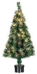Bakaji Fiber, albero di Natale artificiale con luci in fibra ottica alto 60 cm