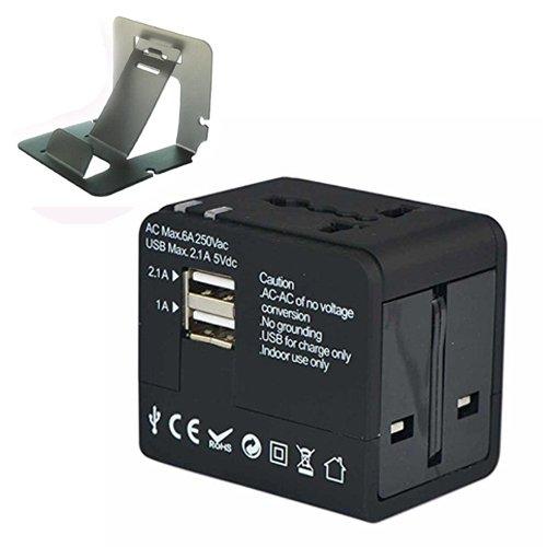 First2savvv BT0201G3 Universeller Reise-Adapter mit 2 USB-Ladeanschluss, konverter EU UK AU US HK über 150 Länder, mit Überspannungsschutz für Samsung Galaxy Note Edge Note 4 Note 3 Note 2 S5 mini S5 ALPHA K zoom S4 S4 mini A3 A5 CORE Max LG OPTIMUS L5 ii E460 L7 II P710 G2 D802 Nexus 5 D821 G-Flex D955 L40 D160 G PRO 2 G2 MINI D620 G3 D855 G3 S D722 L20 D100 L30 D120 L50 D213 L70 D320 L90 D405 F60 D390N Flex 2 H955 G4 G2 mit mini stehen