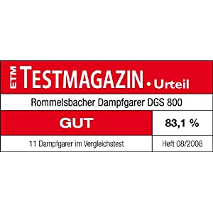 Amazon.de: ROMMELSBACHER DGS 800 - DAMPFGARER - 800 Watt
