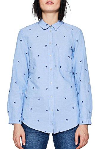 ESPRIT Damen 018EE1F009 Bluse, Blau (Light Blue 440), 38