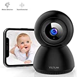 Victure 1080P Baby Monitor con Rilevamento del Suono FHD Telecamera Wifi di Sorveglianza Interna con Visione Notturna, Audio Bidirezionale, Monitoraggio del Movimento