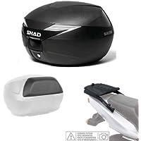 SHAD - KIT-SHAD-1152/214 : Kit fijacion y maleta baul trasero + carbono + respaldo pasajero regalo SH39 BMW F800 R / S 09 - 11
