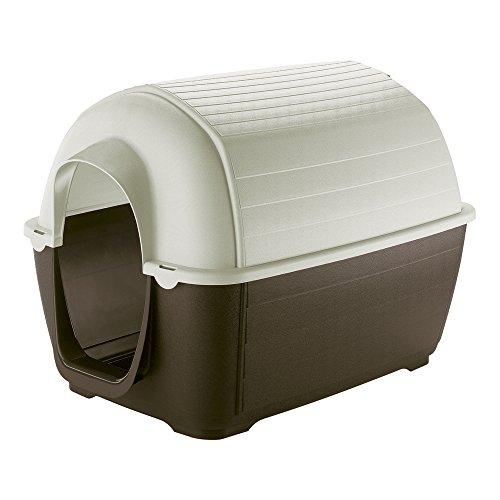 Ferplast Kenny 05 Hundehaus, stoßfest, UV-beständig Strahlenbeständiger Kunststoff, Entlüftungs-/Abfluss-System -
