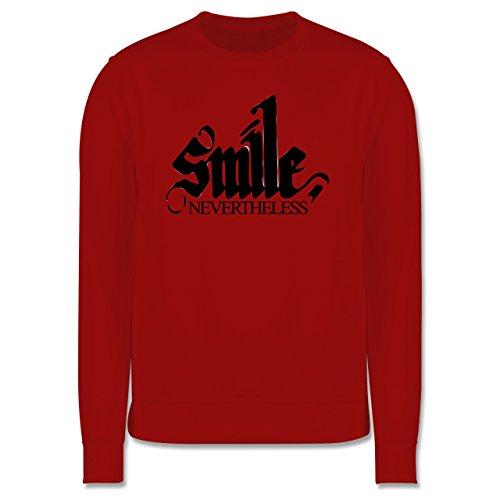 Statement Shirts - Lächle trotzdem - smile nevertheless - Herren Premium Pullover Rot