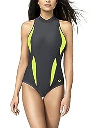 Gwinner Badeanzug Sportbadeanzug Schwimmanzug Bademode Damen einteilig sehr bequem und elastisch, mit weichen, herausnehmbaren Körbchen, aus hochwertigem Material made in EU Aqua Sport