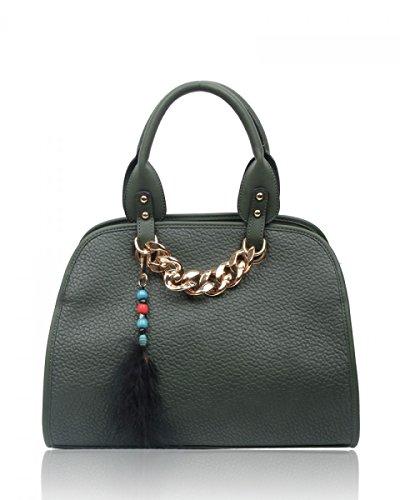 Craze London , Damen Tote-Tasche olivgrün