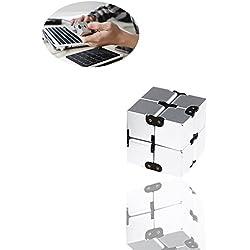SinHan Cubo de Fidget en estilo con infinito Cubo de descompresión Cubo de descompresión Cubo de dados a Wwitch - Magic Time Cubo Infinito para ADD, ADHD, ansiedad y autismo Adultos y niños