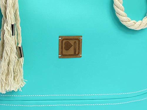 Handtasche Türkis - Blau - 6