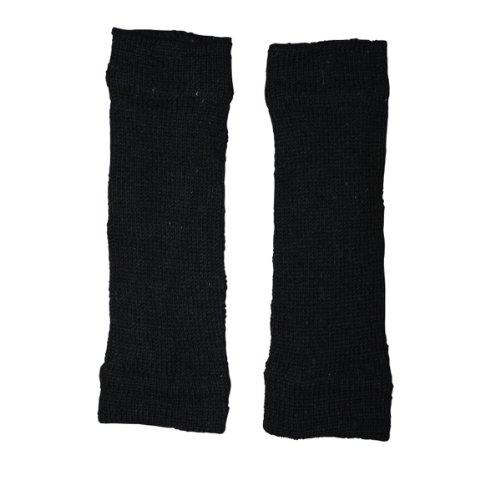 Freak Scene® Warmhaltende Arm und Bein Stulpen, Farbe: Beinstulpen schwarz