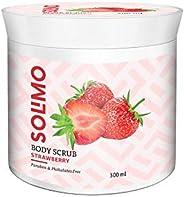 Amazon Brand - Solimo Body Scrub, Strawberry, 300gms