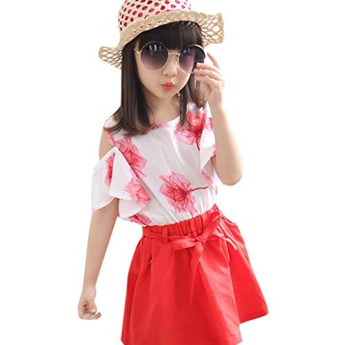 Rock MäDchen Waselia KostüM MäDchen Prinzessin Rock, Rot Weiß Gestreifter Rock MäDchen, Kleinkind Kinder Baby Mädchen Print Strap Beachwear Prinzessin T Shirt Tops Rock Outfits