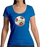 Dressdown WM 2018 Fussball - Portugal - Damen T-Shirt mit Rundhalsausschnitt - Royalblau - XL