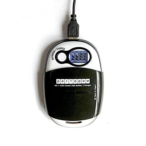 PortaPow USB-Caricatore per Batterie AA + batterie usato  Spedito ovunque in Italia