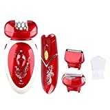 Pretty life Ladies Electric Rechargeable Shaver,3 in 1 Lady es Epilator Lady Shaver Hair Remover for...