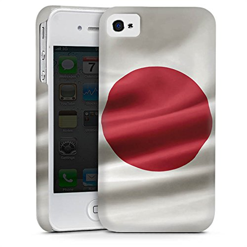 Apple iPhone 4 Housse Étui Silicone Coque Protection Japon Drapeau Drapeau Cas Premium mat