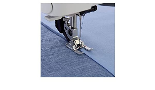 Honeysew 9 mm open toe satin stitch metal applique foot with idt for