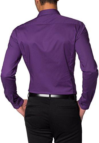 ETERNA long sleeve Shirt SUPER-SLIM Stretch uni Lilla
