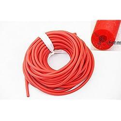 3x 6mm banda de látex de caucho natural para Slingshot Catapulta al aire libre Caza de repuesto 10metros, rojo