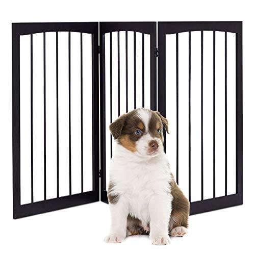Blitzzauber24 Cancello per Cani Pieghevole Cancelletto di Sicurezza per Animali Domestici 160x1,2x76cm