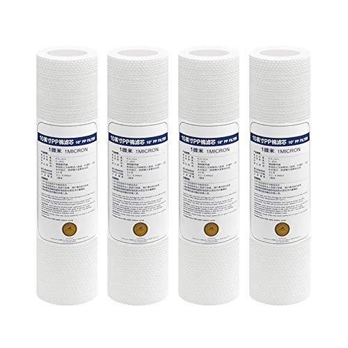 """LZH FILTER 10\"""" Zoll Sediment Wasserfilter - 1 Micron für Umkehrosmose Filteranlage Trinkwasser Brunnenwasser, 4 Stück"""