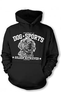 Sweat à capuche pull-over à capuche pour chien-golden retriever-xXL, noir