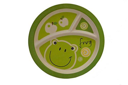 Bambus Faser Frosch geteilt Teller (Kinder-geteilte Platte)
