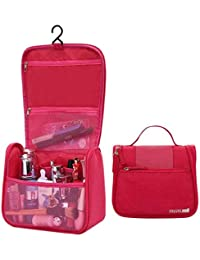 ASkyl Travel Cosmetic, Makeup Organizer Toiletry Bags For Women And Men (Pink)