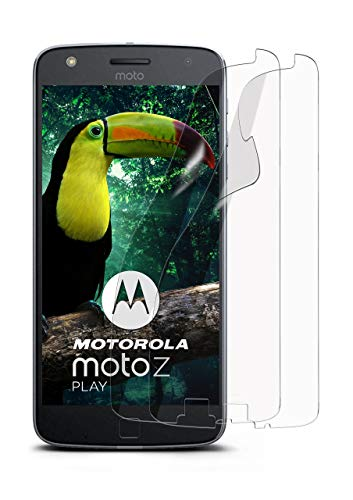 moex 2X Lenovo Moto Z Play | Schutzfolie Klar Bildschirm Schutz [Crystal-Clear] Screen Protector Display Handy-Folie Dünn Bildschirmschutz-Folie für Motorola Moto Z Play Bildschirmfolie