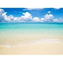 Foto mural Sol, mar y playa size: 350x260cm puesta de sol Papel Tapiz