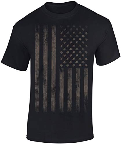T-Shirt: Camo Style Stars and Stripes - USA Flagge - Shirt Herren Damen - Mann Männer Frau-en - Biker - Rock-er - Amerika America - United States - Camouflage - Army - Streetwear - Geschenk (M) (Stars And Stripes-flagge)