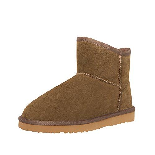 SKUTARI Wildleder Damen Winter Boots | Extra Weich & Warm Gefüttert | Schlupf-Stiefel mit Stabile Sohle | Pailletten Glitzer Meliert Schlangen-Look (39, Khaki/5044) (Snake Leather Stiefel)