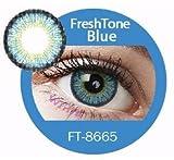 donne multicolore carino fascino e attraente moda lenti a contatto casi cosmetici trucco ombretto–Brillant blu 3con lenti a contatto caso di visione Enno TM