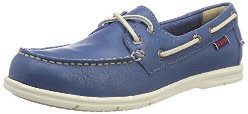 Sebago Litesides Two Eye FGL Tumbled, Chaussures de Voile Femme, Bleu