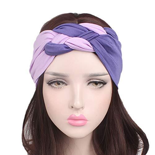 Wrap Stretchy Feuchtigkeit Haarband 5 Stück Sport Stirnband - Running Stirnband Sport Wicking Stirnband Frauen Schweißband absorbierende Feuchtigkeit für Yoga Reiten Basketball Sport elastischen Turba