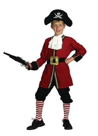 Boys Fancy Dress Costume Captain Hook Medium Pirate Peter Pan (7-9 Years)