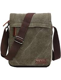 ed81042c378 SUPA MODERN® Canvas Messenger Bag Shoulder Bag Laptop Bag Satchel Bag  Bookbag School Bag Working Bag Crossbody Bag for Men…
